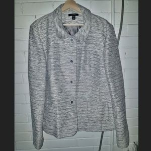 Louben Grey Textured Blazer - 20